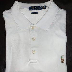 POLO Ralph Lauren Men Classics White Polo, LG NWT